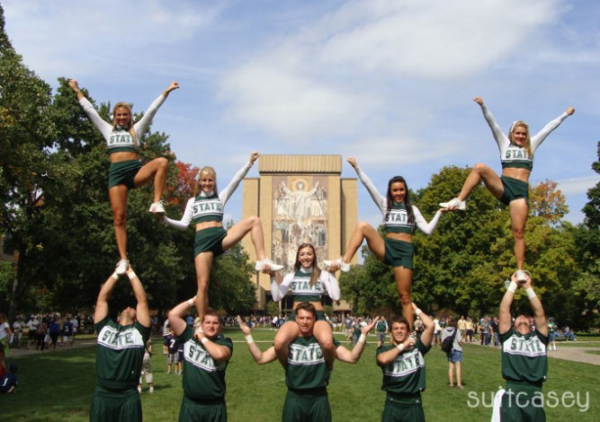 Suitcasey Cheers Notre Dame