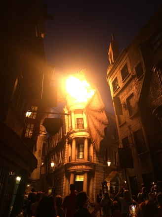Gringotts Dragon breathing fire